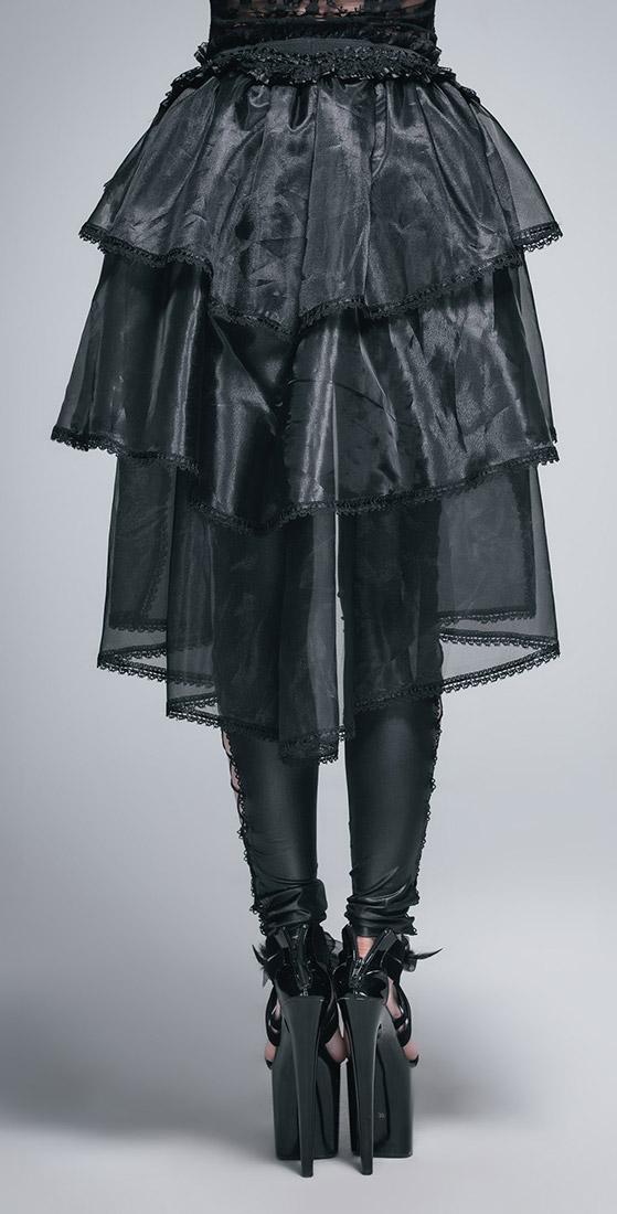 a83aedbf4e7 Devil Fashion SKT016 Sur-jupe en dentelle et voiles