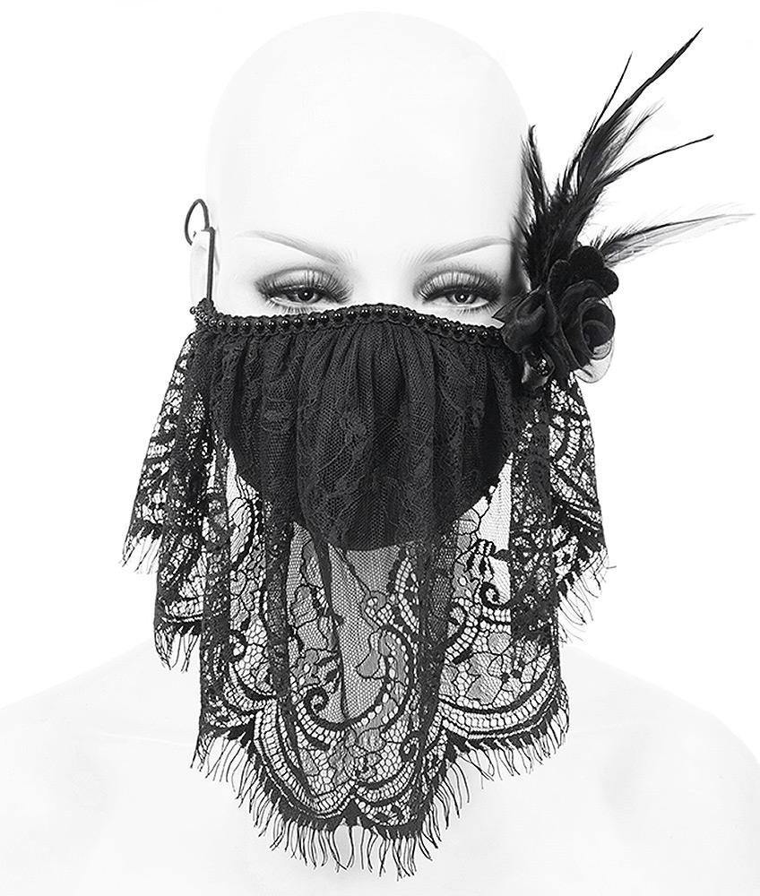Color : Dark Gray des Masques De Dentelle Fine Vintage Cr/ème Solaire Femmes Dame PM 2,5 Bouche Moufles